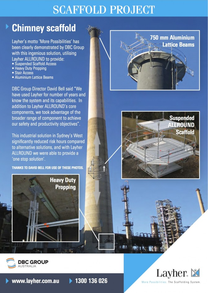 LAYHER SCAFFOLD AND DBC GROUP CHIMNEY PROJECT