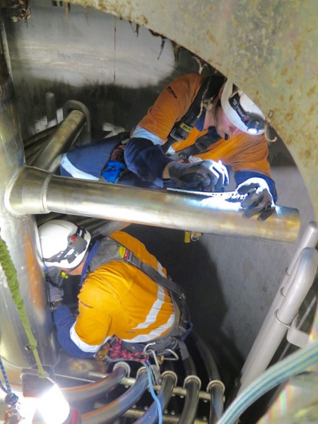 Sydney emulsion vessel urgent NDT inspection and weld repairs 2018
