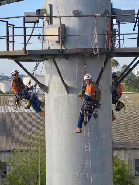 Melbourne Stack inspection, welding and coating repair 2017